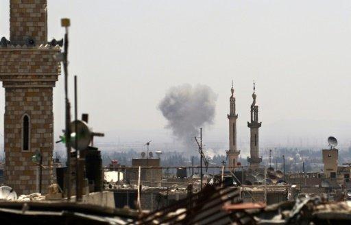 برخورد موشک معارضان به دمشق هشت کشته برجای گذاشت